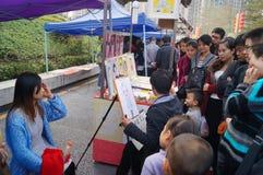 Shenzhen, China: Portrait Painting Royalty Free Stock Photos