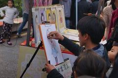 Shenzhen, China: Portrait Painting Stock Photography