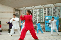Shenzhen, China: in the practice of traditional Wushu -- Taijiquan Stock Images