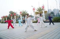 Shenzhen, China: in the practice of traditional Wushu -- Taijiquan Stock Image