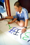 Shenzhen china: primary and secondary school students in writing Stock Photography