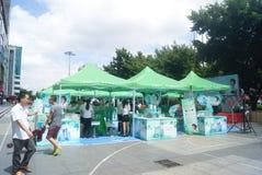 Shenzhen, China: promoción de los productos de belleza Fotos de archivo libres de regalías