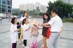 Shenzhen, China: Propaganda des Umweltschutzes lizenzfreie stockfotografie