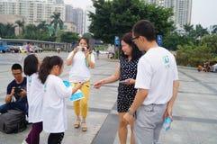 Shenzhen, China: propaganda of environmental protection Royalty Free Stock Image