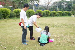 Shenzhen, China: propaganda of environmental protection Royalty Free Stock Images