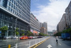Shenzhen, China: rainy road traffic Royalty Free Stock Photo
