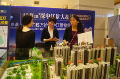 Shenzhen, China: real estate sales Royalty Free Stock Images