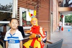 Shenzhen, China: rehearsal Sun Wukong promotion Royalty Free Stock Image