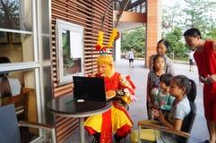 Shenzhen, China: rehearsal Sun Wukong promotion Royalty Free Stock Photography