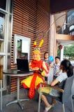 Shenzhen, China: rehearsal Sun Wukong promotion Stock Photography