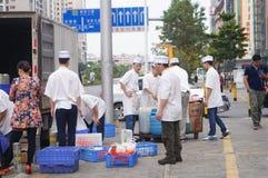 Shenzhen, China: restaurant chefs Stock Photo