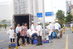Shenzhen, China: restaurant chefs Stock Photos