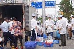 Shenzhen, China: restaurant chefs Royalty Free Stock Image