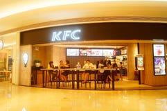 Shenzhen, China: restaurante del kfc Fotografía de archivo libre de regalías