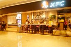 Shenzhen, China: restaurante del kfc Imágenes de archivo libres de regalías