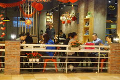 Shenzhen, China: restaurants in business during the Spring Festival Stock Photos