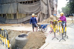 Shenzhen china: road construction Stock Photos