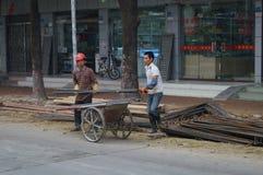 Shenzhen, China: Road Construction Royalty Free Stock Photography
