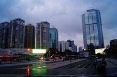 Shenzhen, China: road traffic and high-rise buildings Royalty Free Stock Image