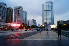 Shenzhen, China: road traffic and high-rise buildings Stock Image