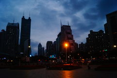 Shenzhen, China: road traffic and high-rise buildings Stock Images