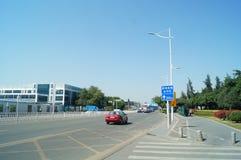 Shenzhen, China: road traffic landscape Stock Image