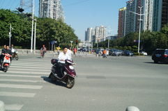 Shenzhen, China: road traffic landscape Stock Photo