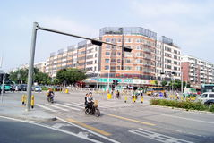 Shenzhen, china: road zebra crossing Stock Photography