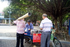 Shenzhen china: roadside snack stalls Stock Photos
