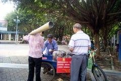 Shenzhen china: roadside snack stalls Stock Photos