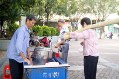 Shenzhen china: roadside snack stalls Royalty Free Stock Image