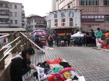Shenzhen, China: roadside stalls Stock Image