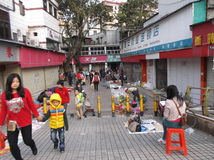 Shenzhen, China: roadside stalls Royalty Free Stock Photos