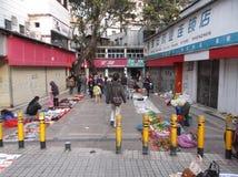 Shenzhen, China: roadside stalls Royalty Free Stock Photo