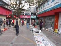 Shenzhen, China: roadside stalls Stock Photo