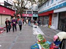 Shenzhen, China: roadside stalls Royalty Free Stock Photography
