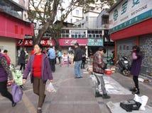 Shenzhen, China: roadside stalls Royalty Free Stock Images