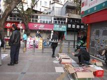 Shenzhen, China: roadside stalls Stock Photography