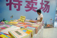 Shenzhen, China: sale of books Stock Images