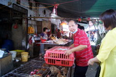 Shenzhen china: sales of poultry Royalty Free Stock Photos