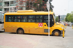 Shenzhen, China: School Bus Royalty Free Stock Photos