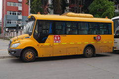 Shenzhen, China: School Bus Stock Photo