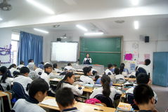 Shenzhen, china: school classroom teaching Royalty Free Stock Images