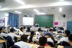Shenzhen, china: school classroom teaching Royalty Free Stock Photos