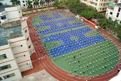 Shenzhen china, the school held a flag-raising ceremony Stock Images