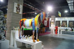 Shenzhen, china: sculpture horse Stock Images