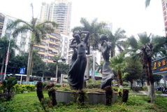 Shenzhen, China: sculpture landscape Stock Photography