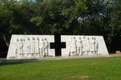 Shenzhen, China: sculpture landscape of health care workers Royalty Free Stock Photo