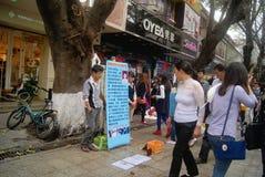 Shenzhen, China: seek help Royalty Free Stock Images