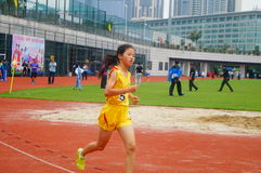 Shenzhen, China: a selection of elite track and field athletes in primary and secondary schools Royalty Free Stock Image